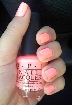 "OPI color...""pink-a-doodle."" A subtle pink with a touch of shimmer."