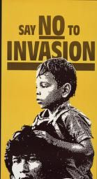 Political Posters, Labadie Collection, University of Michigan: Say No to Invasion Hands off Nicaragua and El Salvador
