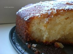 Greek Ravani Cake / Greek Cake with Desiccated Coconut and Lemon Flavored Syrup
