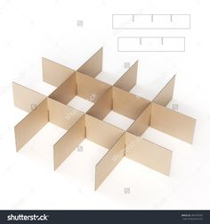 Storage Divider With Die Cut Template Rendered On White Background Stock Photo 284799365 : Shutterstock