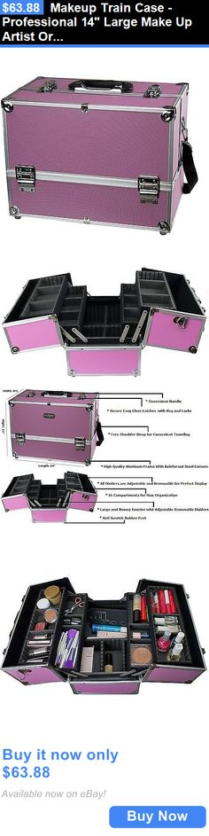 Beauty Makeup: Makeup Train Case - Professional 14 Large Make Up Artist Organizer Kit - New BUY IT NOW ONLY: $63.88