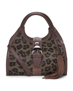 Made+In+Italy+Leopard+Hobo+With+Tassel