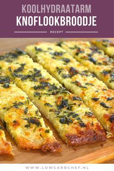 Koolhydraatarm knoflookbroodje – Food And Drink Tapas, Healthy Recepies, Healthy Snacks, Low Carb Quiche, Food Porn, Mezze, High Tea, Food Inspiration, Low Carb Recipes