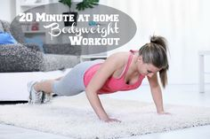 20 Minute at Home Bodyweight Workout - Move Love Eat - Health and Fitness Blogger