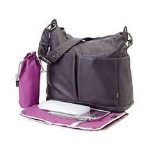 OiOi Leather Hobo Diaper Bag in Sugar Plum Dad Diaper Bag, Best Diaper Bag, Diaper Bag Backpack, Tote Bag, Stylish Backpacks, Changing Bag, Online Bags, Baby Items, Sunglasses Case
