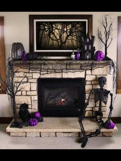 I really want a house with a fireplace. I don't even care if it works, I just want to decorate it for Halloweeeeeen