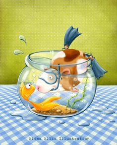 Elina Ellis Illustration: Guinea pigs RULE!