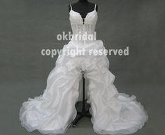 high low wedding dress high low dress white high low by okbridal, $296.00