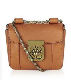 Chloé Mini Elsie Shoulder Bag in Coral Brown