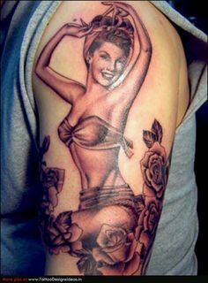 Photo Slideshow: Kat Von D's Tattoo Portfolio: LA Ink: TLC- Reminds me of my mom, she always loved pin up girls.