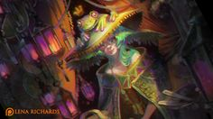 Support Lena creating dark fantasy | painting workshops | concept art