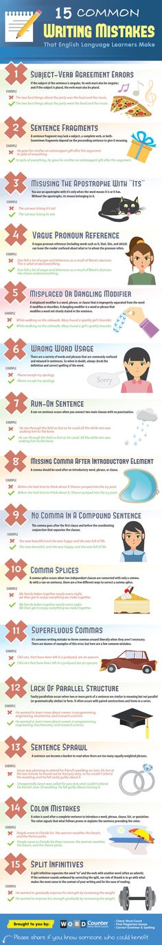 15 Common Writing Mistakes That English Language Learners Make