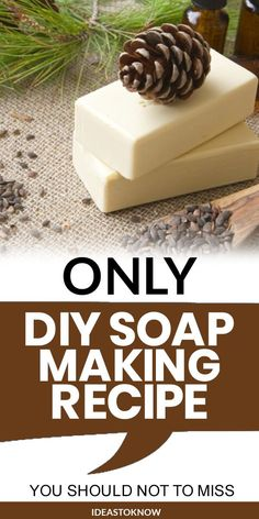 Soap Making Recipes, Homemade Soap Recipes, Homemade Gifts, Mason Jar Crafts, Mason Jar Diy, Pine Essential Oil, Essential Oils, Fragrant Candles, Nifty Crafts