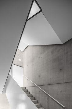 concrete and white