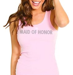 Pink and gold wedding maid of honor tank!