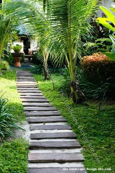 I like the discrete flagstones for some reason.  ...isolation and adventure in a garden!