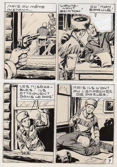 MIKI LE RANGER LES TRAPPEURS  PLANCHE  MONTAGE NEVADA 1959 PIECE UNIQUE PAGE 7 fr.picclick.com