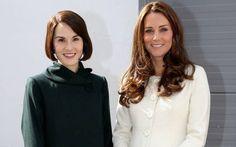 Kate Middleton on the Set of Downton Abbey