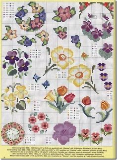 Cross Stitch Cross-Stitch Cross-Punto Punto Croce-Point-Croix-237