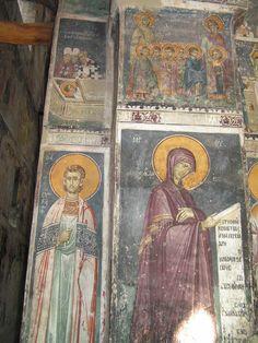 Frescoes Old Nagorichno centuries. Part IX Byzantine Icons, Byzantine Art, Fresco, Church Icon, Archangel Raphael, Best Icons, Orthodox Icons, Angel Art, Sacred Art