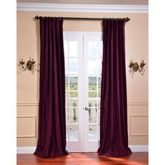 @Overstock - Add a luxurious touch to your windows with this majestic plum window curtain from EFF. A lovely velvet construction highlights this window panel.   http://www.overstock.com/Home-Garden/Majestic-Plum-Vintage-Cotton-Velvet-Curtain/7294809/product.html?CID=214117 $80.99