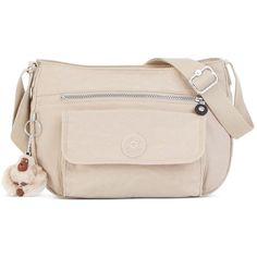 Kipling Handbag, Syro Crossbody Bag (1,375 MXN) ❤ liked on Polyvore featuring bags, handbags, shoulder bags, sand castle, hand bags, handbags crossbody, kipling crossbody, crossbody hand bags and pink shoulder bag