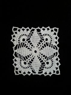 Crochet doily - Square doilies - Pink - Home decor - Pink crochet doilies - Mothers Day - Handmade Vintage Crochet Patterns, Crochet Blocks, Granny Square Crochet Pattern, Crochet Squares, Crochet Motif, Crochet Designs, Crochet Doilies, Crochet Flowers, Knit Crochet