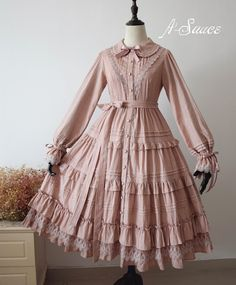 A-Sauce Cinderella one piece dress re-release Old Fashion Dresses, Old Dresses, Stylish Dresses, Vintage Dresses, Vintage Outfits, Casual Dresses, Fashion Outfits, 1800s Dresses, Pretty Outfits