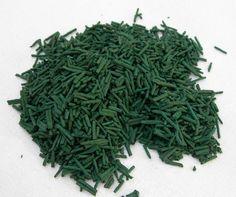 Spiruline (Algue bleue-verte) - commencer par une dose de 1 gr par jour, et augmenter la quantité de 1 gr toutes les semaines jusqu'à 5 à 10 gr par jour