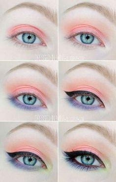 Makeup tutorial eyeshadow peach ideas for 2019 Make-up Tutorial Lidschatten Pfirsich I Makeup Goals, Makeup Inspo, Makeup Art, Makeup Inspiration, Hair Makeup, Beauty Makeup, Makeup Ideas, Pastell Make-up, Eyeshadow Makeup
