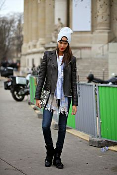 Joan Smalls after Chanel, Paris, January 2015