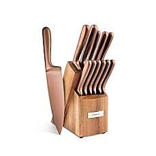 Copper PVD Knife Block Set -Cambridge Silversmiths Rame 12-Piece