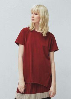 Koszulka z organicznej bawełny - Koszulki dla Kobieta | MANGO Polska
