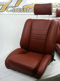our'Sport S' seat in red leatherRemake of the Recaro Ideal.Classic Car Seats by GTS classics.