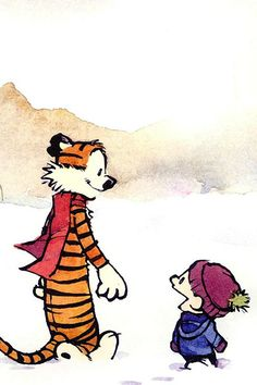 I just can never express my love for Calvin and Hobbes. It's such a beautiful and funny comic