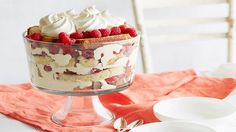 Raspberry Orange Trifle Recipe : Ina Garten : Food Network - Ina's trifle is layered with orange pound cake, fresh raspberries and orange cream for a crowd-pleasing dessert. Orange Trifle Recipes, Dessert Recipes, Dessert Ideas, Trifle Desserts, Dessert Book, White Desserts, Easter Desserts, Holiday Desserts, Sweet Desserts