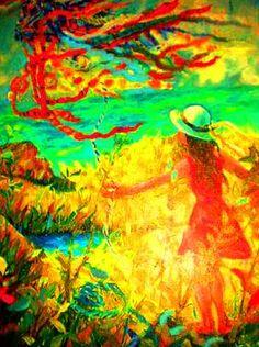 "Saatchi Art Artist Nada  Sucur Jovanovic; Painting, ""Little lady  & dragoon (Sold)"" #art"