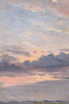 A Cloud Study, Sunset by John Constable, c. 1821 (detail) A Cloud Study, Sunset by John Constable, c. Aesthetic Pastel Wallpaper, Aesthetic Backgrounds, Aesthetic Wallpapers, Renaissance Kunst, Sky Aesthetic, Artist Aesthetic, Aesthetic Painting, Sky Painting, Pretty Wallpapers