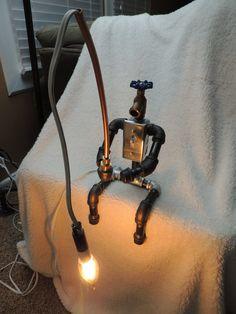 Lampe de pêche Robot Pipe par JKpinsandnails sur Etsy