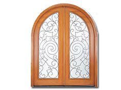 Adore this door! Part of the Old-World European Collection from Pella Windows and Doors, this enchanting door features textured glass and decorative iron accents. Walnut Doors, Wood Entry Doors, Double Entry Doors, Arched Doors, Pella Windows, Old Windows, Windows And Doors, Translucent Glass, Iron Doors