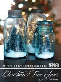 it's just Laine: DIY: Anthropologie inspired Christmas Tree Jars