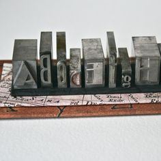 Metal Printer's Type - how to make your own.