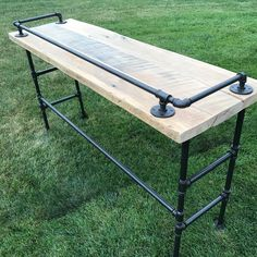 """Rustic version of our sofa bar table. 20"""" x 66"""" x 36"""" tall."""