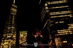 New York City Lights Engagement Photos