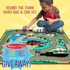 Enter for a chance to win our Round the Town Road Rug & Car Set! 3 lucky people will win!