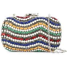 Corto Moltedo 'Susan C Star' embellished clutch (€1.830) ❤ liked on Polyvore featuring bags, handbags, clutches, white, colorful clutches, tri color handbags, embellished purse, multi colored handbags and white purse