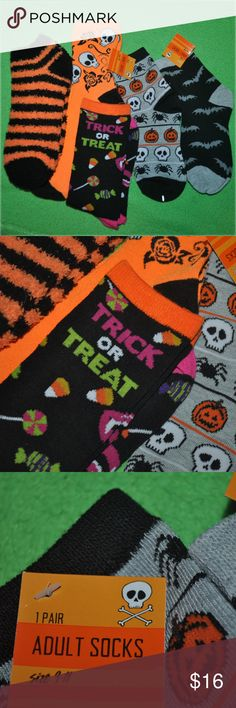 5 PAIR HALLOWEEN SOCK LOT 5 brand nwt & nwot socks - never worn - no flaws  tags: dark spooky horror rock gothic punk goth girls girl womens women sock feet grey black bats skulls skull prints print patterns pattern graphic style warm chill chilly cool rebellious rebel roll contrast spook creepy costume creeper creep halloween holidays holiday cute adorable party stylish fun fan bats fly flying comfortable striped vampire vamp creature classic sleep casual day night boo gift present gifts…