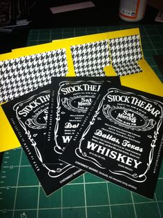 """""""Stock the Bar"""" Party... Almost like a Groom's wedding shower...this is a great idea!!!"""