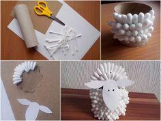 Ozdoby wielkanocne z papieru - baranek