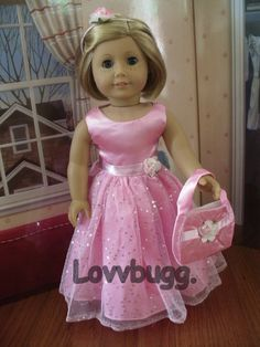 Pink Radiance Evening Gown Bag Set Doll Clothes for American Girl WOW SELECTION! | eBay
